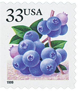 1999 33c Blueberry, booklet single