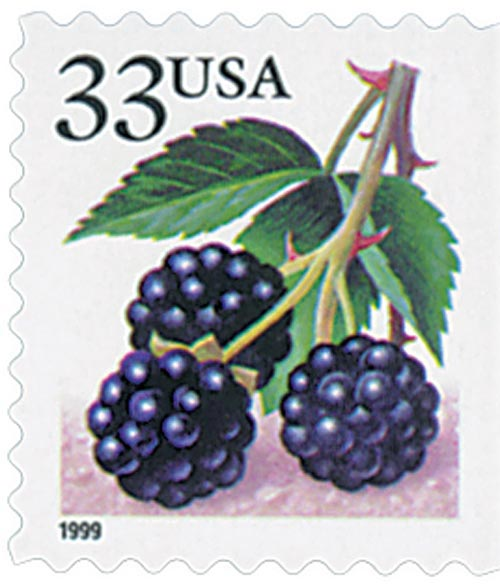 1999 33c Blackberry, booklet single
