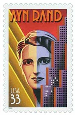 1999 33c Literary Arts: Ayn Rand