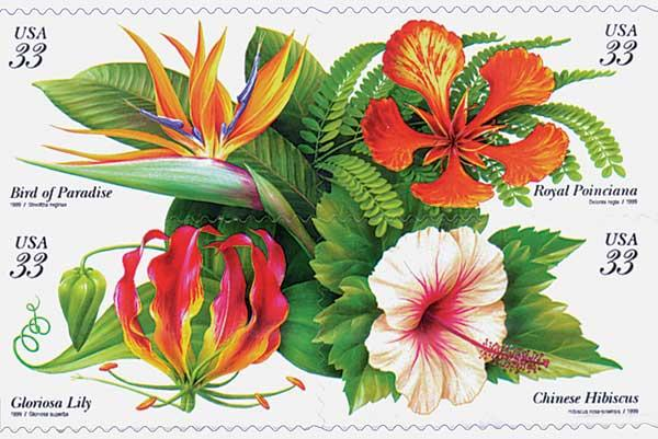 1999 33c Tropical Flowers