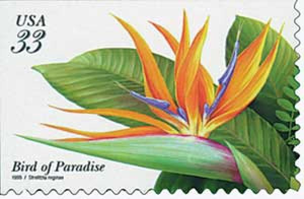 1999 33c Tropical Flowers: Bird of Paradise