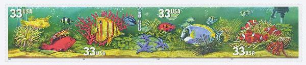 1999 33c Aquarium Fish