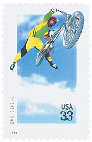 1999 33c BMX biking