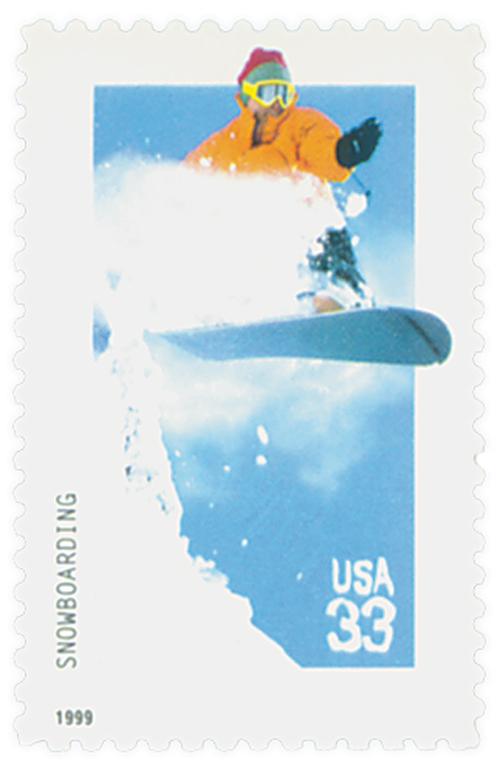 1999 33c Xtreme Sports: Snowboarding