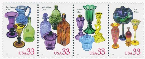 1999 33c American Glass