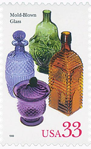 1999 33c American Glass: Mold-Blown Glass