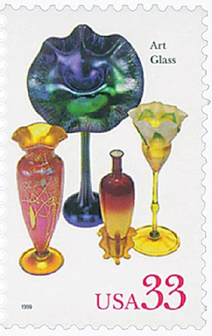 1999 33c American Glass: Art Glass