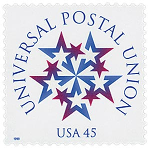 U.S. #3332 was issued for the 125th anniversary of the U.P.U.