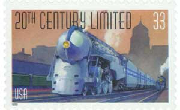1999 33c All Aboard!: 20th Century Limited