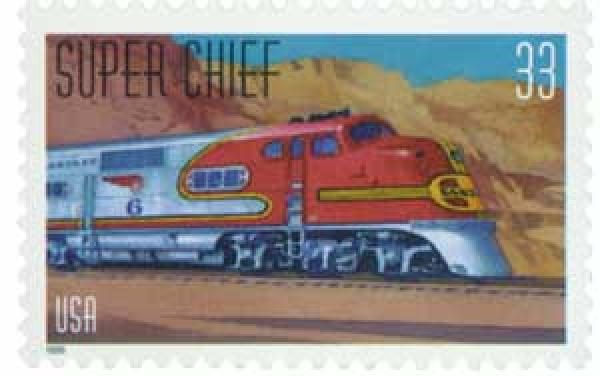 1999 33c All Aboard!: Super Chief