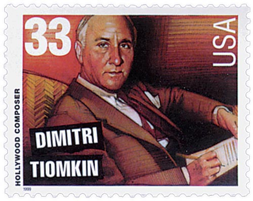 1999 33c Hollywood Composers: Dmitri Tiomkin