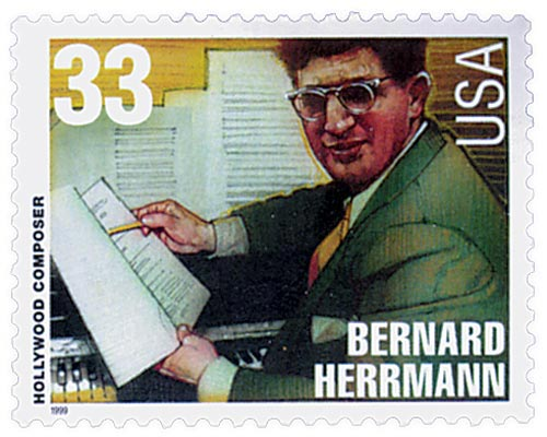 1999 33c Hollywood Composers: Bernard Herrmann