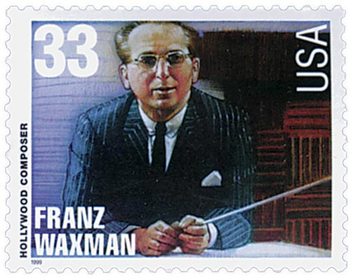 1999 33c Hollywood Composers: Franz Waxman