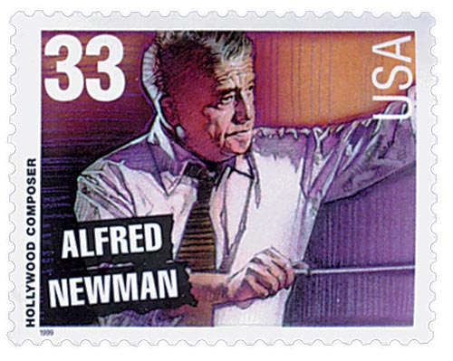 1999 33c Hollywood Composers: Alfred Newman