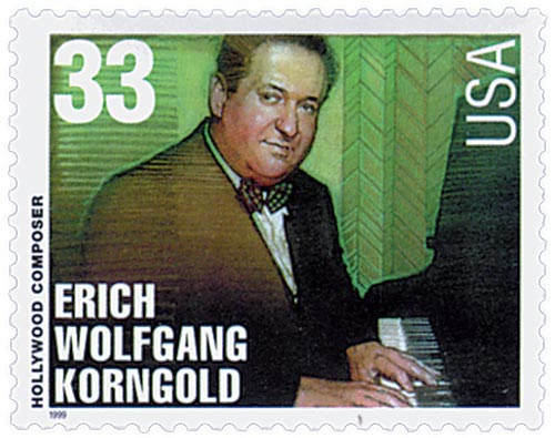 1999 33c Hollywood Composers: Erich Korngold