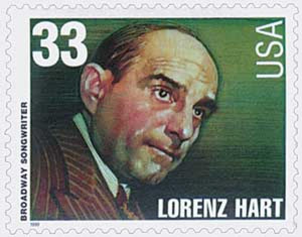 1999 33c Broadway Songwriters: Lorenz Hart