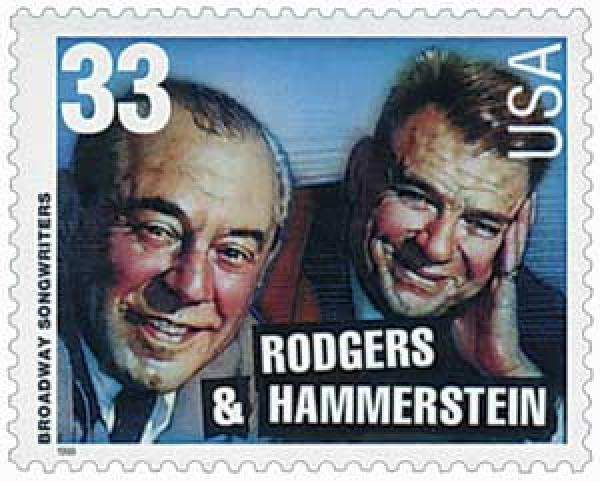 1999 33c Broadway Songwriters: Rodgers and Hammerstein