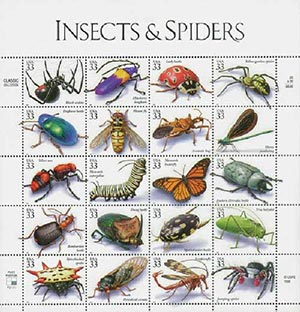 1999 33c Insects and Spiders