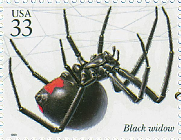 1999 33c Insects and Spiders: Black Widow