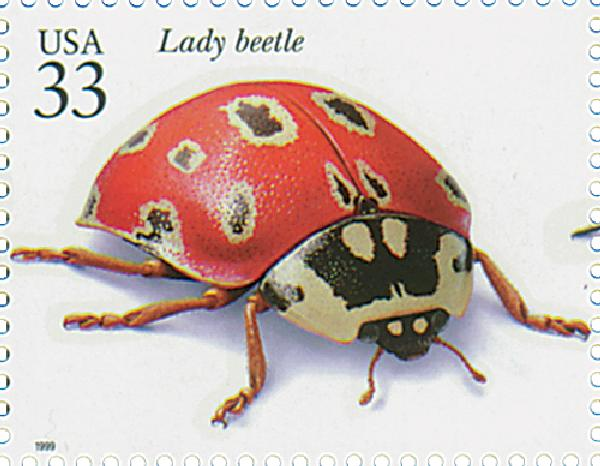 1999 33c Insects and Spiders: Lady Beetle