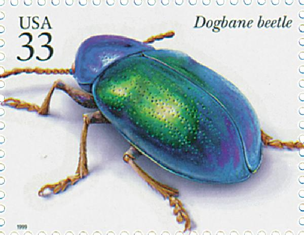 1999 33c Insects and Spiders: Dogbane Beetle