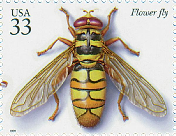 1999 33c Insects and Spiders: Flower Fly