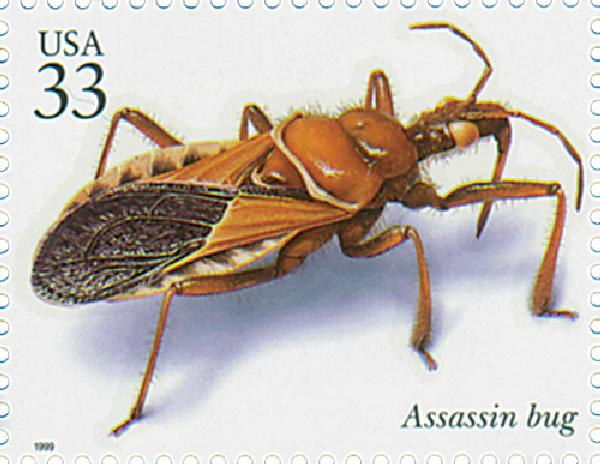 1999 33c Insects and Spiders: Assassin Bug