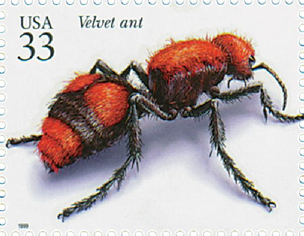 1999 33c Insects and Spiders: Velvet Ant