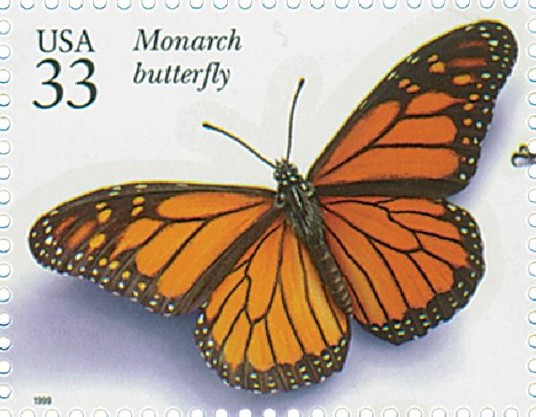 1999 33c Insects and Spiders: Monarch Butterfly