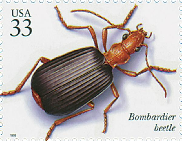 1999 33c Insects and Spiders: Bombadier Beetle