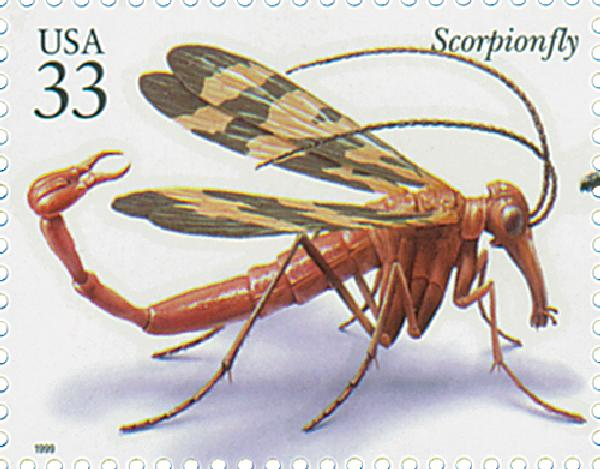 1999 33c Insects and Spiders: Scorpionfly