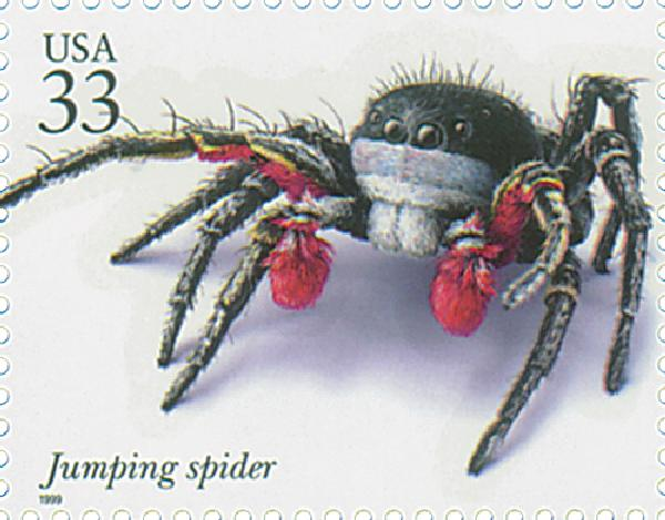 1999 33c Insects and Spiders: Jumping Spider