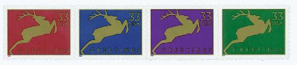 1999 33c Reindeer (Banknote Corp.)