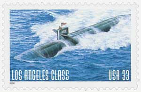 2000 33c US Navy Sub: Los Angeles class