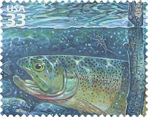 2000 33c Pacific Coast Rain Forest: Cutthroat Trout