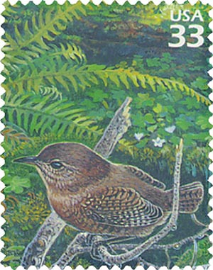 2000 33c Pacific Coast Rain Forest: Winter Wren