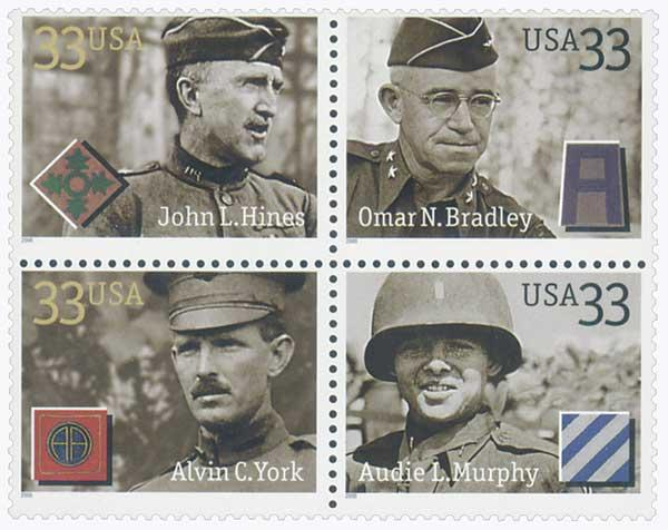 2000 33c Distinguished Soldiers