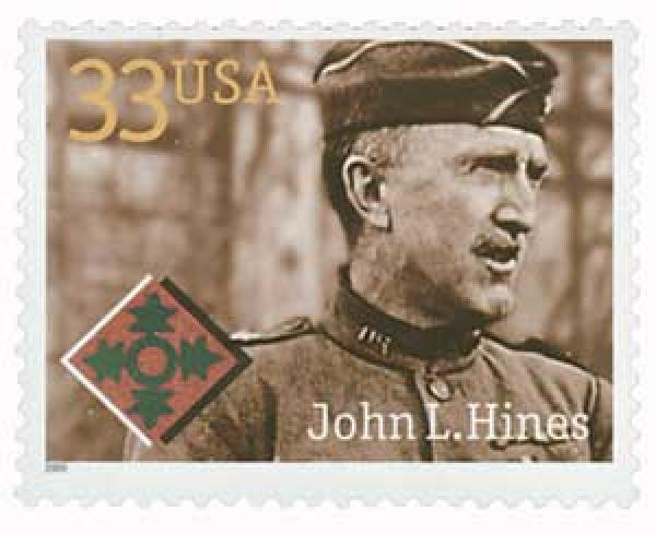 2000 33c Distinguished Soldiers: John L. Hines