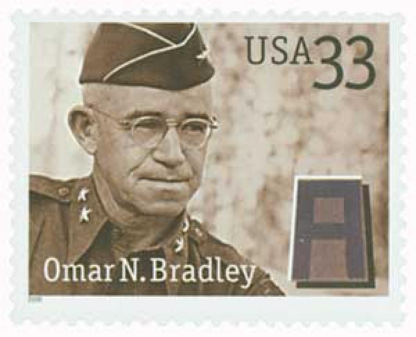 2000 33c Distinguished Soldiers: Omar N. Bradley