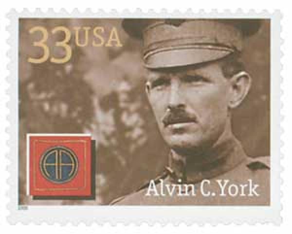 2000 33c Distinguished Soldiers: Alvin C. York