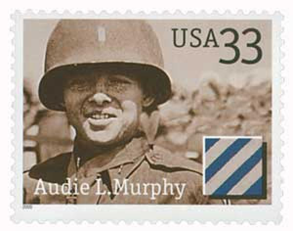 2000 33c Distinguished Soldiers: Audie L. Murphy
