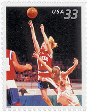 2000 33c Youth Team Sports: Basketball