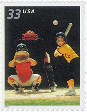 2000 33c Youth Team Sports: Baseball