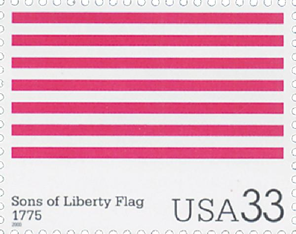 2000 33c The Stars and Stripes: Sons of Liberty Flag
