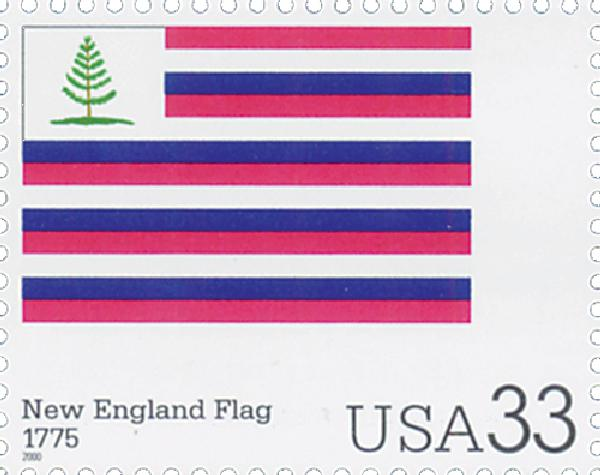 2000 33c The Stars and Stripes: New England Flag