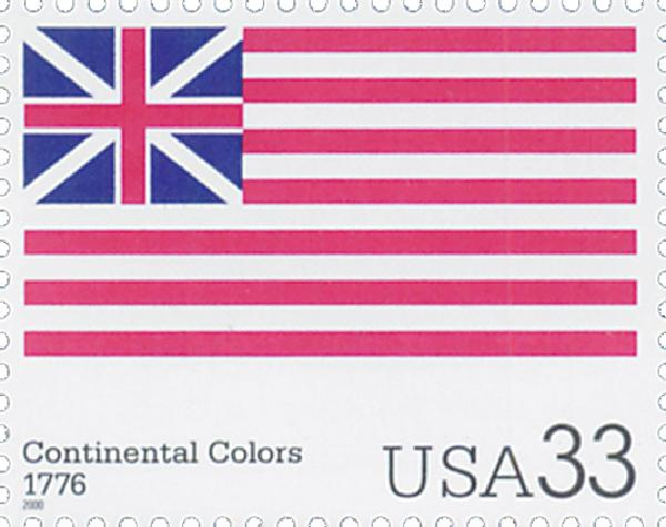 2000 33c The Stars and Stripes: Continental Colors