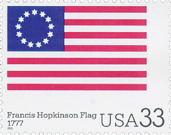 2000 33c The Stars and Stripes: Francis Hopkinson Flag