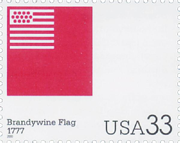 2000 33c The Stars and Stripes: Brandywine Flag