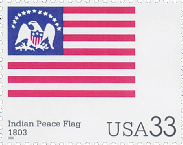 2000 33c Indian Peace flag