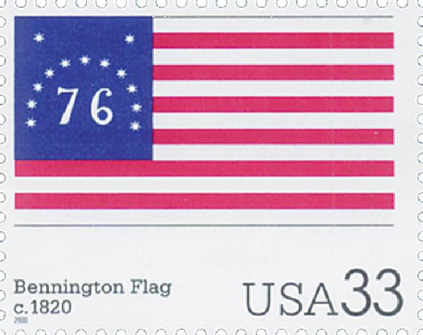 2000 33c The Stars and Stripes: Bennington Flag